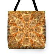 Amber Fractal Tote Bag