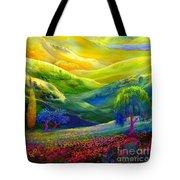 Wildflower Meadows, Amber Skies Tote Bag