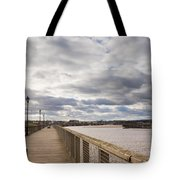 Amble Harbour And Village Tote Bag
