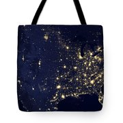 America At Night Tote Bag by Adam Romanowicz