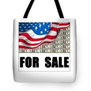 America For Sale Tote Bag