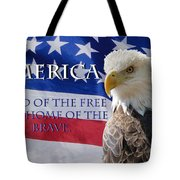 America Land Of The Free Tote Bag