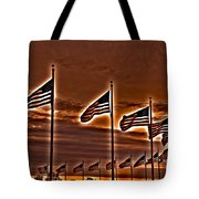 America Still Stands Tote Bag