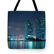 American Airlines Arena And Condominiums Tote Bag