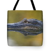 American Alligator Reflection Tote Bag