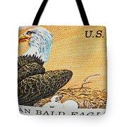 American Bald Eagle Vintage Postage Stamp Print Tote Bag