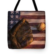 American Baseball Tote Bag by Garry Gay