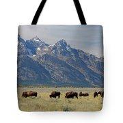 American Bison Herd Tote Bag