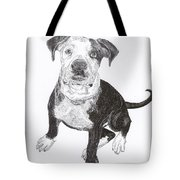American Bull Dog As A Pup Tote Bag