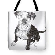American Bull Dog As A Pup Tote Bag