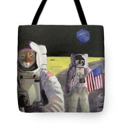 American Cat Astronauts Tote Bag