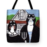 American Cat Gothic Tote Bag