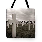 American Cemetery In Normandy  Tote Bag