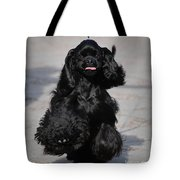 American Cocker Spaniel In Action Tote Bag by Camilla Brattemark