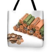 American Coins On White Background Tote Bag