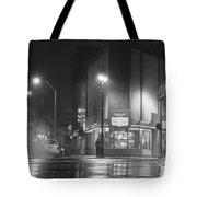 American Coney In Detroit Black And White Tote Bag