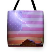 American Country Storm Tote Bag