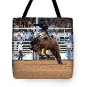 American Cowboy Riding Bucking Rodeo Bronc I Tote Bag