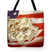 American Currency  Tote Bag by Les Cunliffe