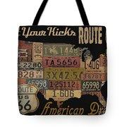 American Dream-route 66 Tote Bag