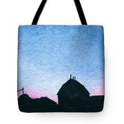 American Farm #1 Silhouette Tote Bag