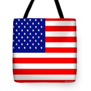 American Flag . Square Tote Bag