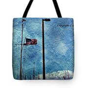 American Flag As A Painting Tote Bag