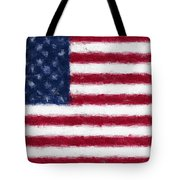 American Flag Embossed Tote Bag