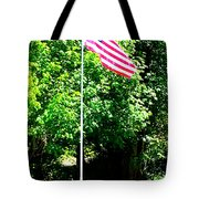 American Flag - Honoring John Tote Bag by Tap On Photo