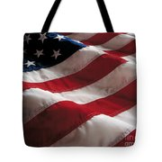 American Flag Tote Bag by Jon Neidert