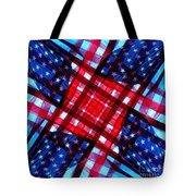 American Flag Kaleidoscope Tote Bag