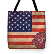 American Flag Made In China Tote Bag