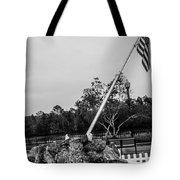 American Flag Monument Tote Bag