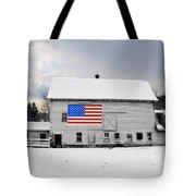 American Flag On A Pennsylvania Barn Tote Bag