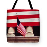 American Flag On The Front Tote Bag