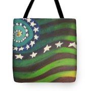 American Flag Reprise Tote Bag