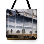 American Flag Still Standing Tote Bag by Luther   Fine Art