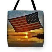 American Flag Sunset 14 2/18 Tote Bag