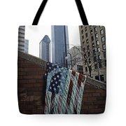 American Flag Tattered Tote Bag