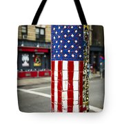 American Flag Tiles Tote Bag