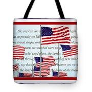 American Flag Tribute  Tote Bag