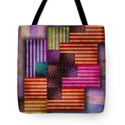 American Flags Tote Bag by Tony Rubino