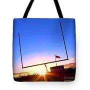 American Football Goal Posts Tote Bag