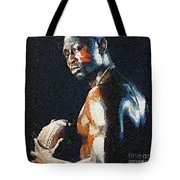 American Football Player Tote Bag