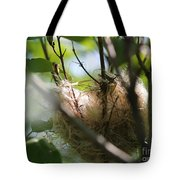 American Goldfinch Nest Under Construction Tote Bag