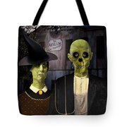 American Gothic Halloween Tote Bag