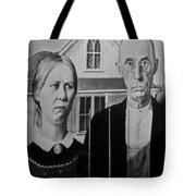 American Gothic In Black And White 1 Tote Bag