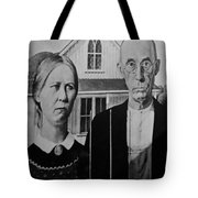 American Gothic In Black And White Tote Bag