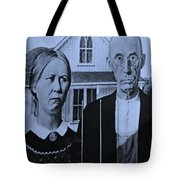 American Gothic In Cyan Tote Bag