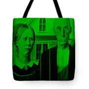 American Gothic In Green Tote Bag